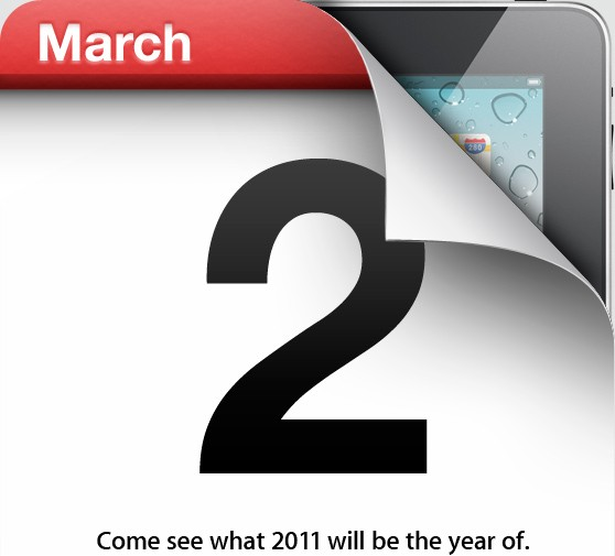 Apple to announce iPad 2 on March 2 [Confirmed]