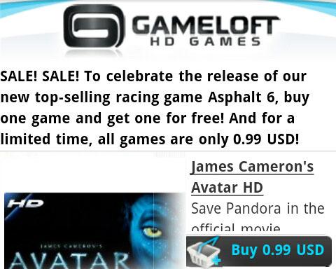 Gameloft games – Buy One Get One Free + 80% Off!
