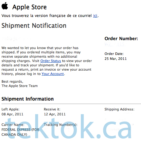 Apple iPad 2 online orders begin shipping to Canada