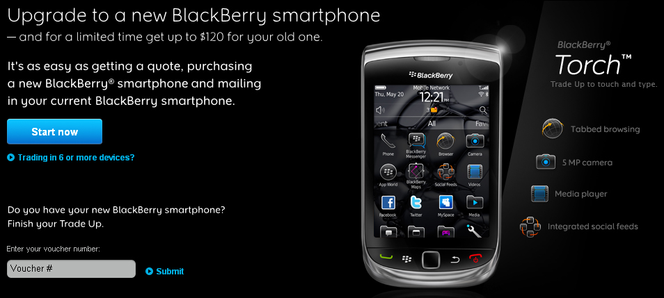 RIM introduces BlackBerry Trade-up Program in Canada