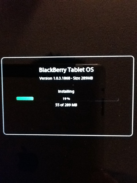Blackberry Playbook Update: version 1.0.3.1868