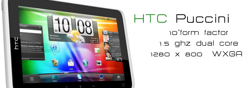 HTC Flyer gets a bit bigger with the 10-inch HTC Puccini