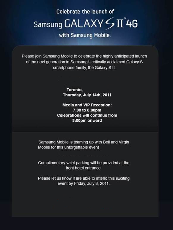 Samsung Galaxy S 2 Media Event Planned