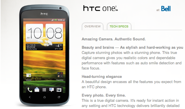 HTC One S coming to Bell, Telus, & Fido