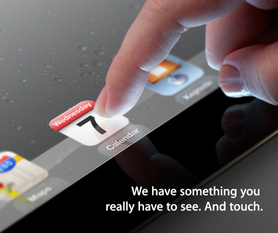 Apple Confirms March 7 iPad 3 Announcement
