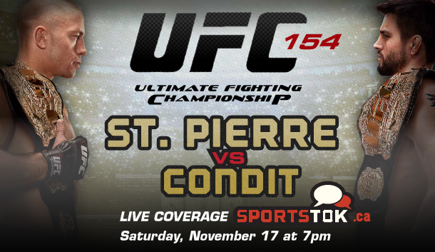 UFC 154 Live Coverage from Montreal
