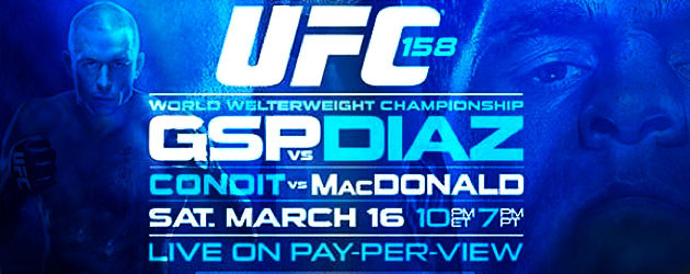 UFC 158: GSP vs Nick Diaz Open Press Conference Set for January 23