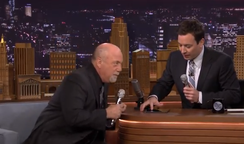 Jimmy Fallon and Billy Joel form 2 Man Doo-Wop Song with an iPad