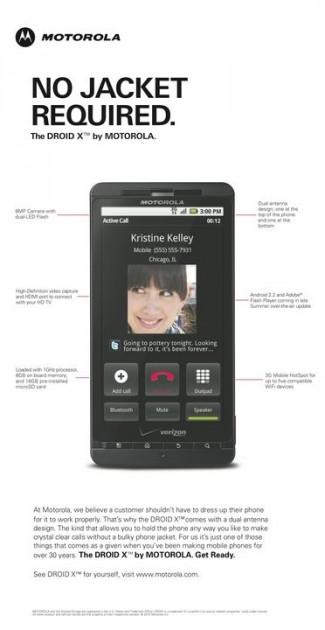 Motorola Droid X - No Jacket Required
