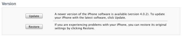Apple iOS 4.0.2 Update
