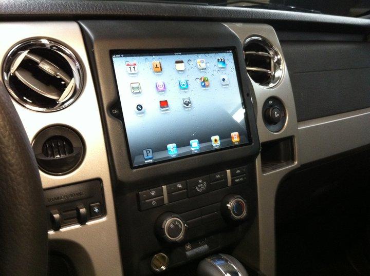 Ipad 2 Installed In Ford F150 Dashboard