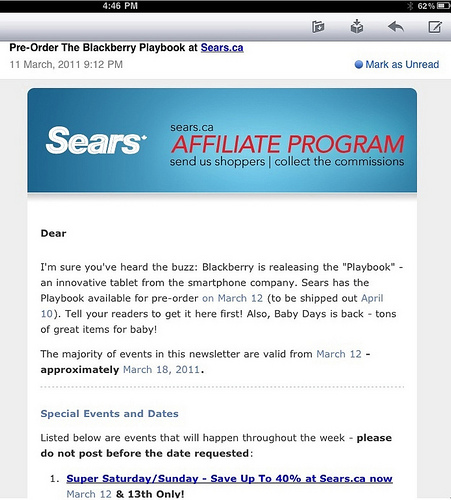 Blackberry Playbook Preorder