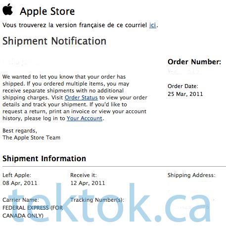 iPad 2 in Canada