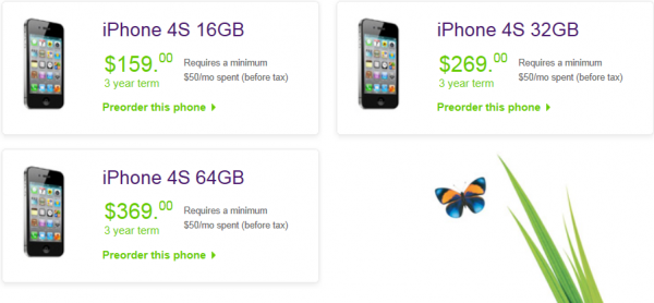 Telus iPhone 4S Pricing